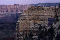 Guests At Viewpoint Below Lodge, North Rim Of Grand Canyon.