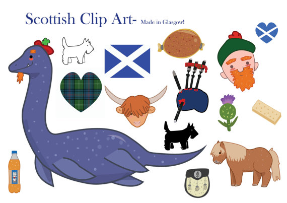 Scotland Clipart Scottish clip art loch ness by LittleRagdollCat.