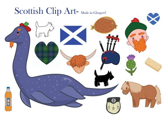 Scotland Clipart Scottish clip art loch ness by LittleRagdollCat.