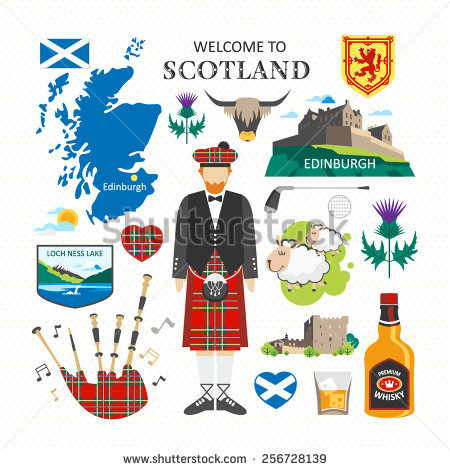 Scottish Castle Stock Photos, Royalty.