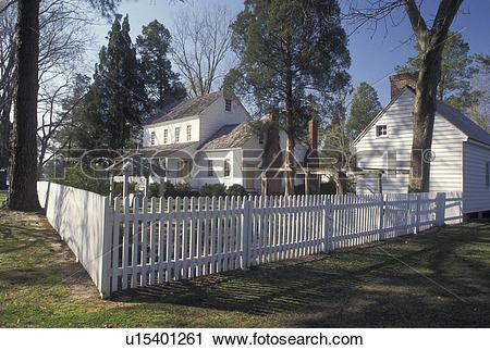 Stock Photography of Bath, NC, North Carolina, Bonner House at.
