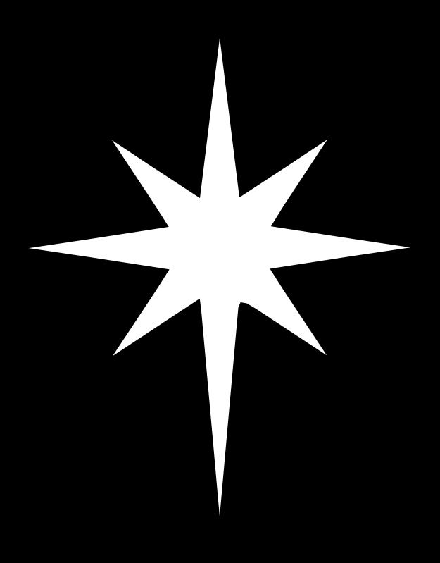 North star nativity free clipart.