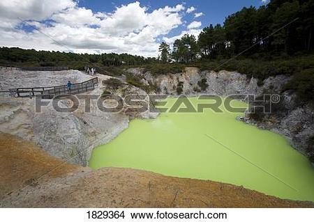 Stock Photo of Geothermal site, Wai.