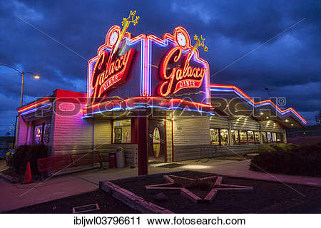 """Stock Photography of """"Galaxy Diner, original site of Bub's 1950s."""