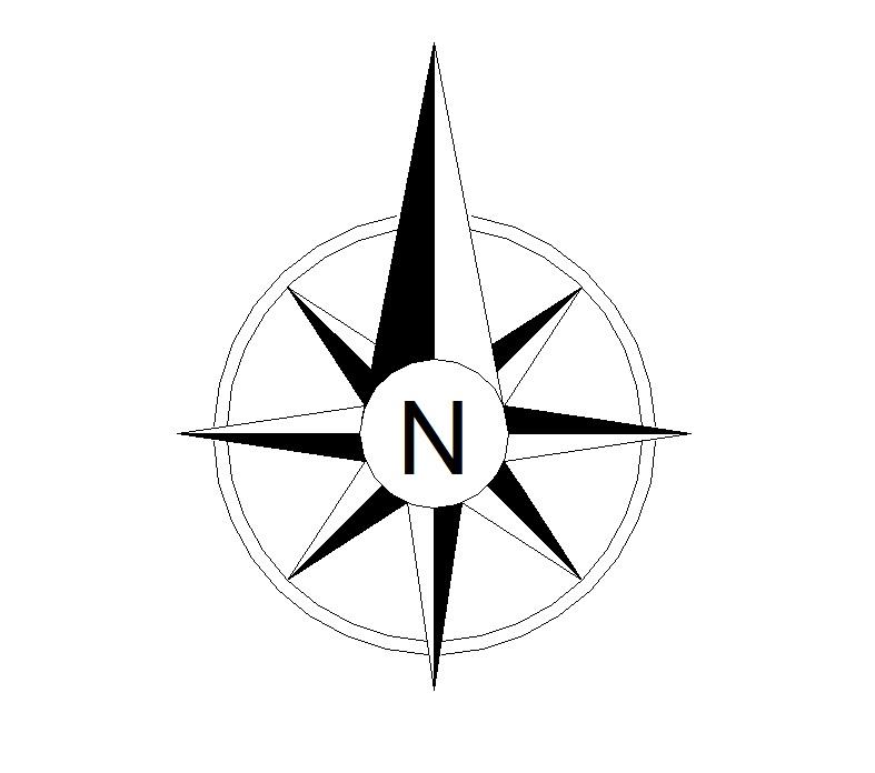 North Symbol For Map.