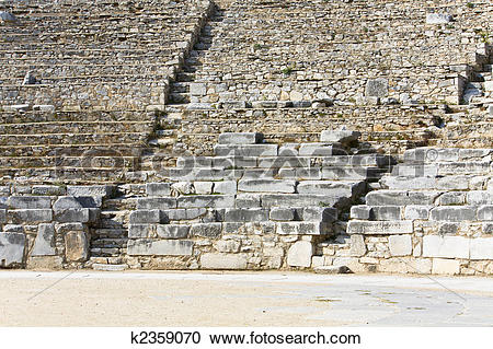 Stock Photography of Ancient Greek theater at Filipois.