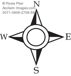 Compass Map Clipart.
