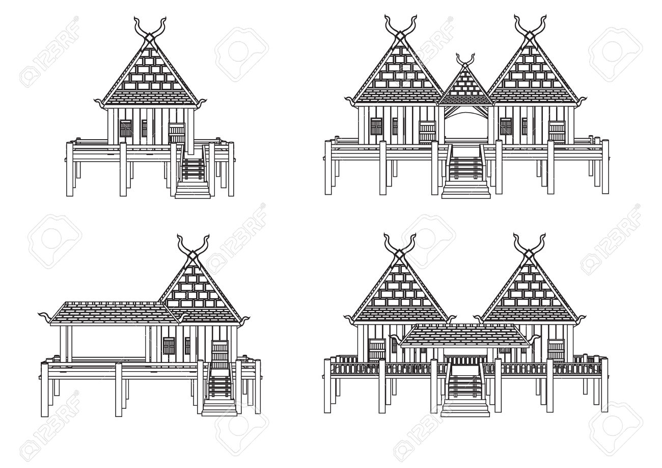House Of Northern Thailand Royalty Free Cliparts, Vectors, And.