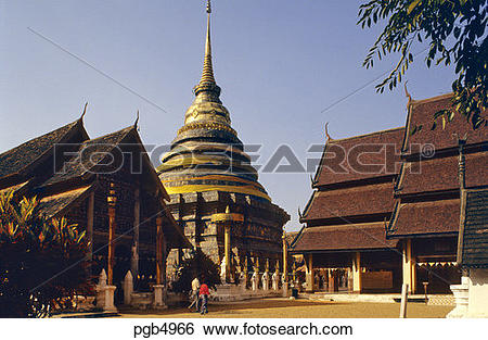 Stock Images of Thailand. Lampang Luang Temple. Lampang. One of.
