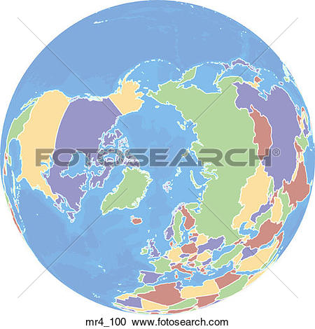 Stock Photography of globe, political, north pole, map, atlas.