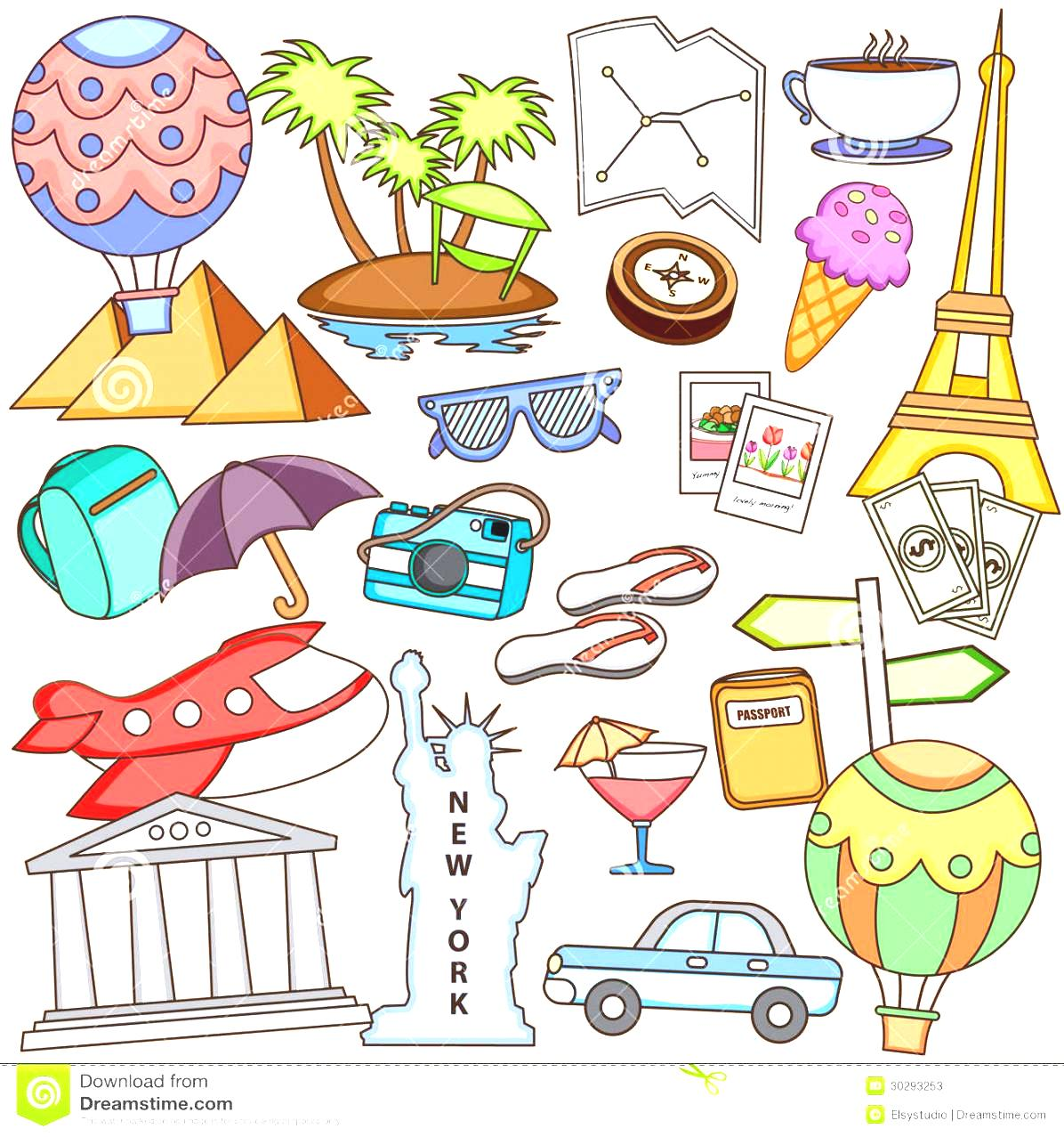 Kids Adventure Clipart With Treasure Map And Young Children.