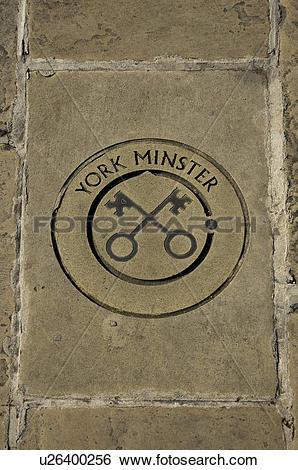 Stock Images of England, North Yorkshire, York. York Minster floor.