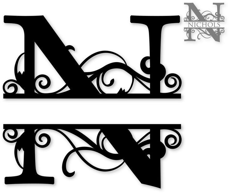 1000+ images about Monogram split letters alphabet on Pinterest.