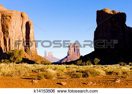 Stock Images of The North Window, Monument Valley National Park.