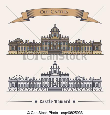 Vectors of England north yorkshire howard castle or stately home.