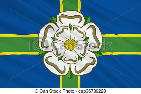 Clip Art of Flag of North Yorkshire county, England.