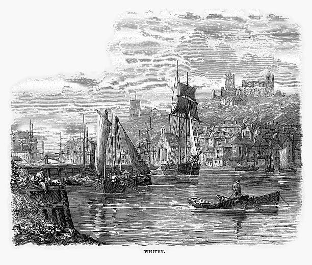 Whitby North Yorkshire England Clip Art, Vector Images.