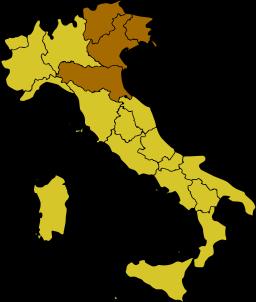 Northeast Italy.
