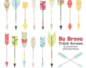 Premium Bohemian Arrows Clip Art & Vectors Arrow by AmandaIlkov.
