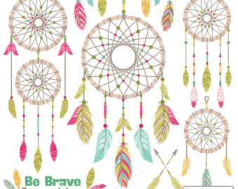 Professional Tribal Feathers Clipart & Vectors in by AmandaIlkov.