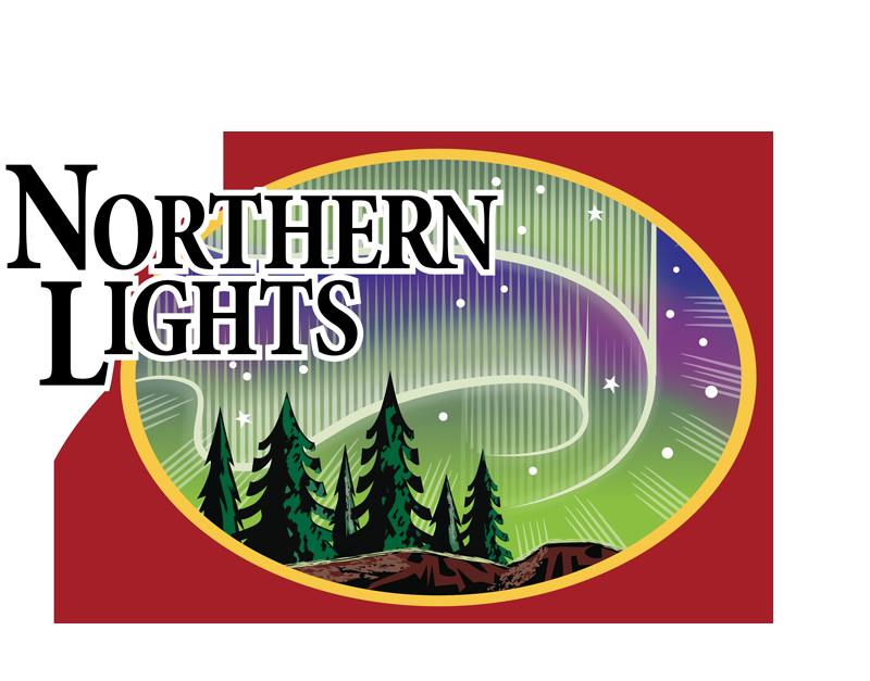 Northern lights clip art.