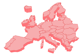 Blank Map of Northern Europe Vector.