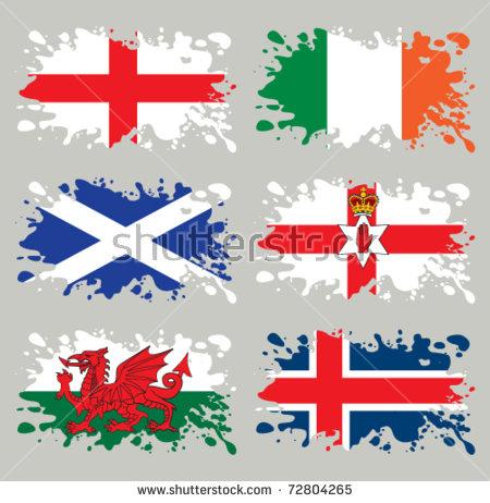 Splash Flags Set Northern Europe Each Stock Vector 72804265.