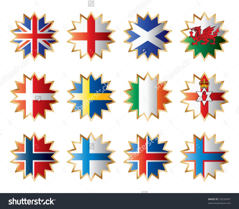 Star Shape Flags.