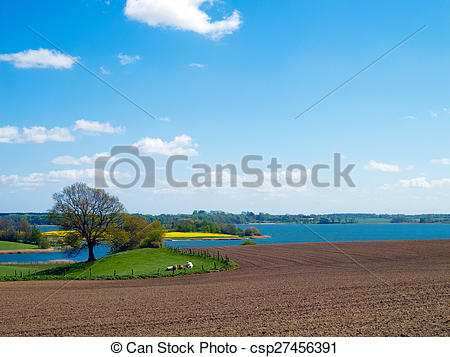 Stock Photographs of agrarian landscape in northern Germany.