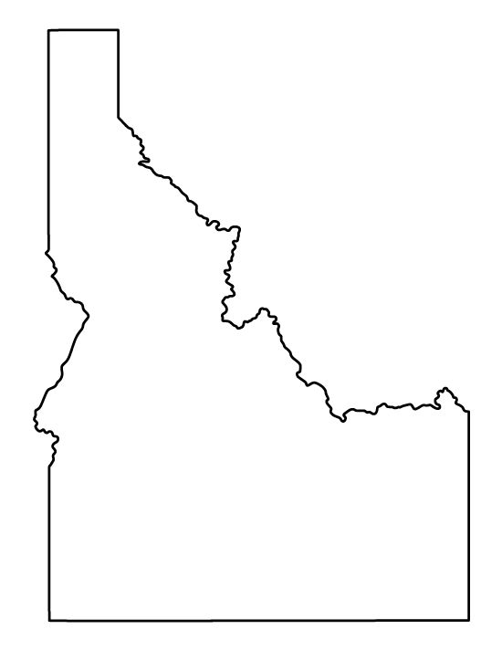 Idaho shape that i can modify the color free clipart.