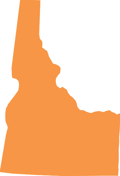 Idaho outline shape clipart.
