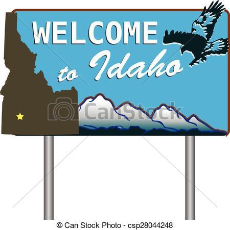 EPS Vector of Welcome to Idaho.
