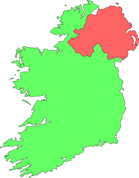 Free Outline Map Northern Ireland.