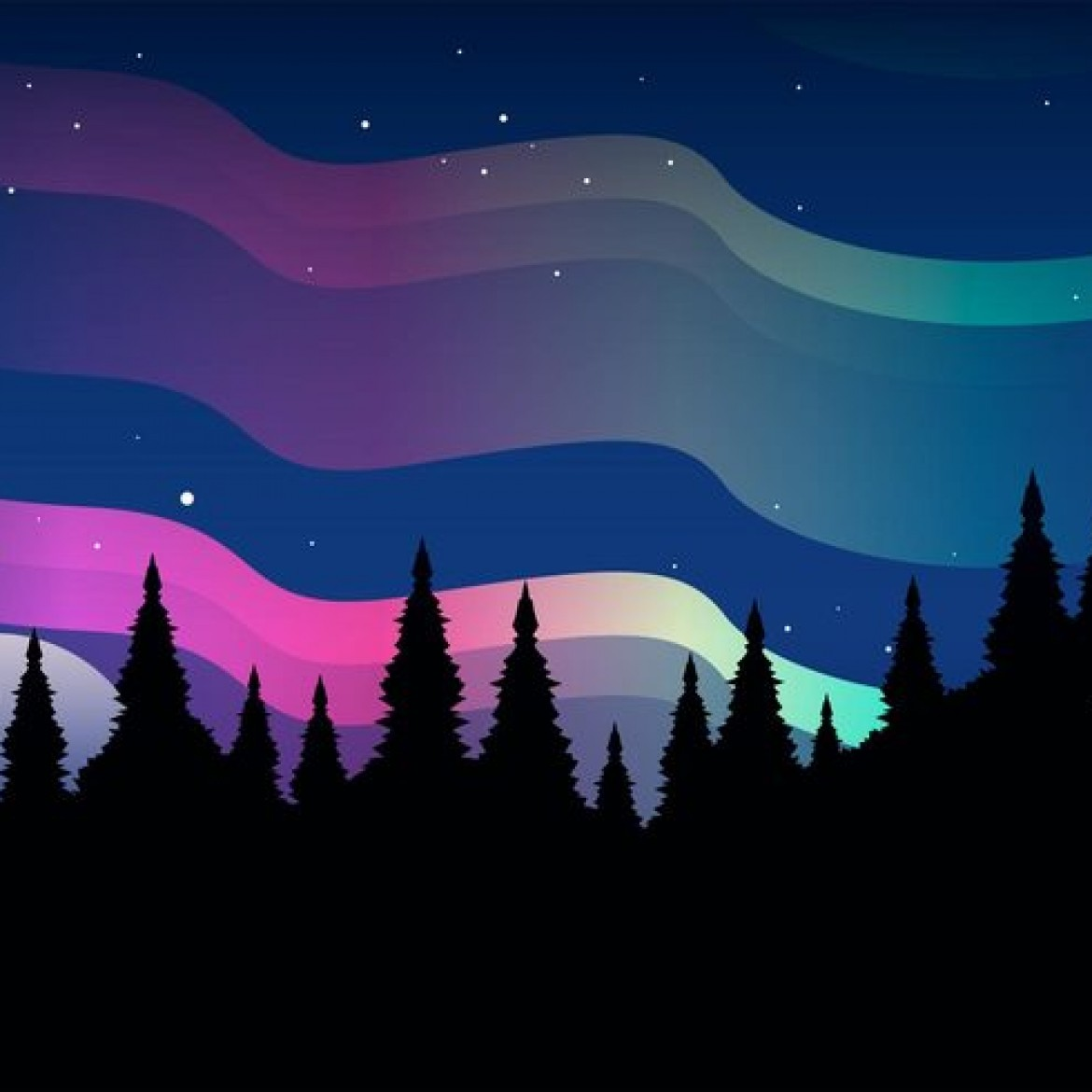 Northern Lights Clipart Clipground