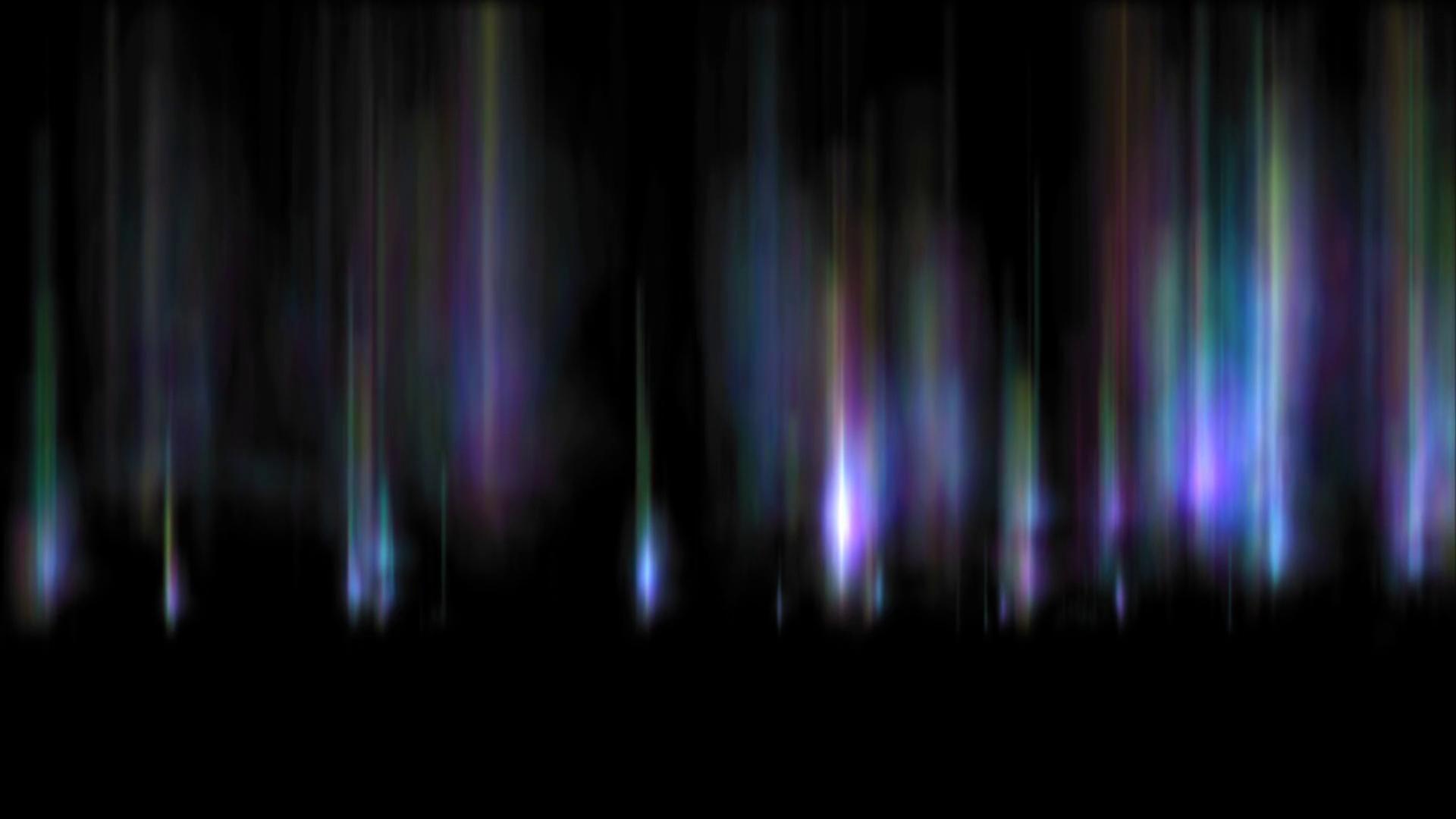Northern Lights on Transparent Background.