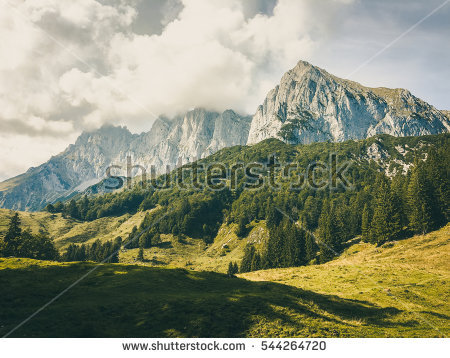 Kaiser Mountains Stock Images, Royalty.