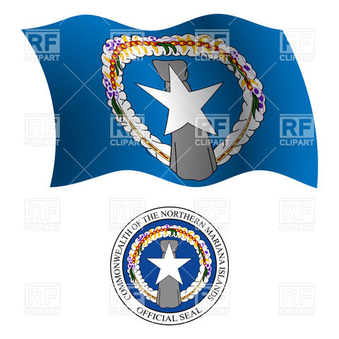 Northern Mariana Islands flag and seal Vector Image #20719.