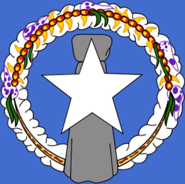 Flag of Northern Mariana Islands.