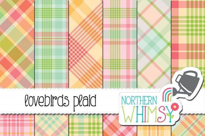 Pastel Plaid Digital Paper.