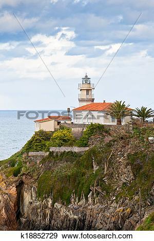 Stock Photograph of Lighthouse of Cudillero, Asturias, Northern.