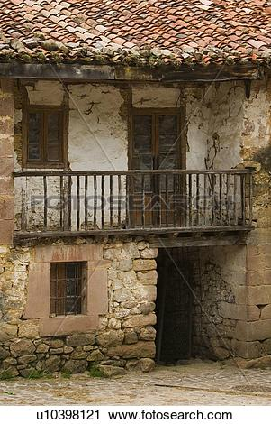 Stock Photography of Derelict farmhouse in the mountain village of.