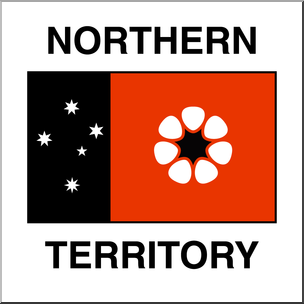 Clip Art: Flags: Northern Territory Color.