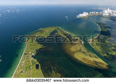 "Picture of ""Aerial view, northern tip of Hiddensee Island with the."
