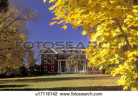 Stock Photo of college, Northampton, Massachusetts, MA, Colorful.
