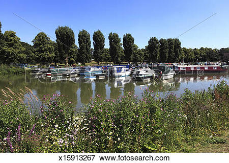 Picture of boating marina on the river Nene, Northampton x15913267.