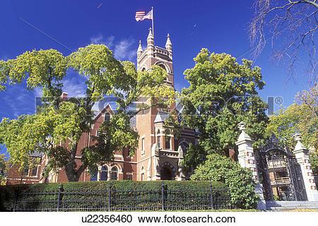 Stock Photography of college, Northampton, Massachusetts, MA.