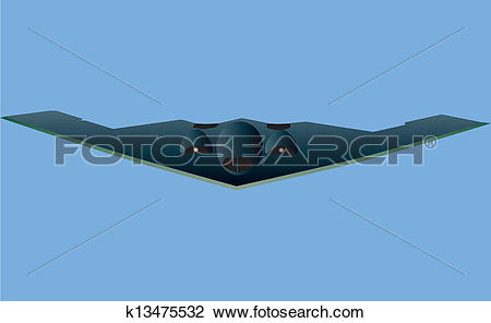Clipart of Stealth Bomber k13475532.