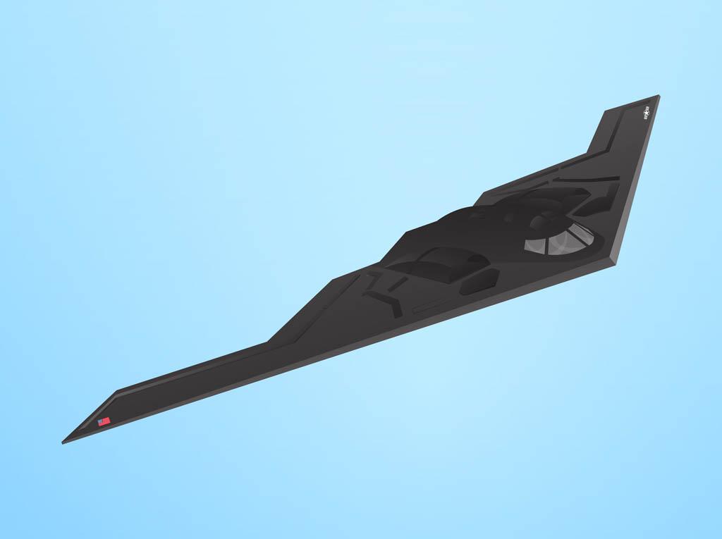 Stealth Bomber Clip Art.