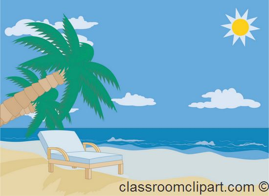 Two Beach Chairs At The North Sea Clipart.