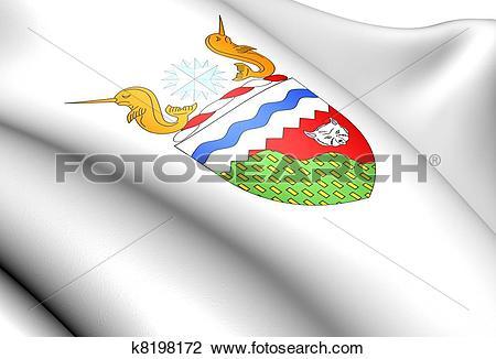 Clip Art of Northwest Territories coat of arms, Canada. k8198172.